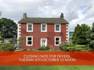 SANDLANDS, ABBEYTOWN, WIGTON, CUMBRIA, CA7 4SS-CLOSING DATE – TUESDAY 8TH OCTOBER 12 NOON